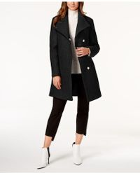 Kenneth Cole - Petite Wing-collar Coat - Lyst