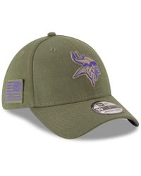 837af4b77 KTZ Minnesota Vikings Salute To Service 39thirty Cap in Green for Men - Lyst