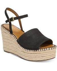 Franco Sarto | Tula Platform Espadrille Wedge Sandals | Lyst