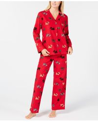 Charter Club - Cotton Printed Flannel Pajama Set, Created For Macy's - Lyst