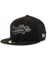 KTZ - Brooklyn Dodgers Black And White Fashion 59fifty Cap - Lyst