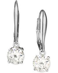 Danori - Earrings, Cubic Zirconia Leverback (1 Ct. T.w.) - Lyst