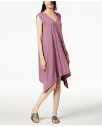Eileen Fisher - Stretch Jersey Handkerchief-hem Dress - Lyst