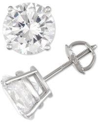 Macy's - Diamond Stud Earrings (6 Ct. T.w.) In 14k White Gold - Lyst