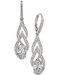 Danori - Silver-tone Crystal & Pavé Drop Earrings - Lyst