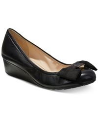 Cole Haan | Tali Grand Bow Wedge Pumps | Lyst