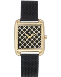 INC International Concepts - Black Stainless Steel Mesh Bracelet Watch 30x37mm, Created For Macy's - Lyst