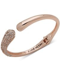 Anne Klein - Rose Gold-tone Pavé Cuff Bracelet, Created For Macy's - Lyst