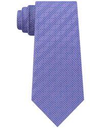DKNY - Grid Slim Silk Tie - Lyst