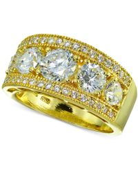Giani Bernini - Cubic Zirconia Ring In 18k Gold-plated Sterling Silver - Lyst