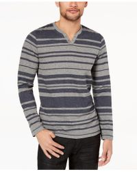 INC International Concepts - Striped Long-sleeve T-shirt, Created For Macy's - Lyst
