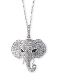 Effy Collection - Diamond Elephant Pendant Necklace (3/4 Ct. T.w.) In 14k White Gold - Lyst