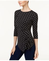 Vince Camuto - Gathered Asymmetrical Top - Lyst