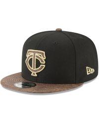 KTZ - Minnesota Twins Gold Snake 9fifty Snapback Cap - Lyst