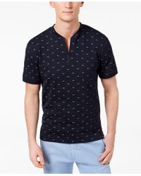 Kenneth Cole - Quarter Zip T-shirt - Lyst