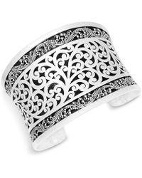 Lois Hill - Scroll Work Filigree Large Cuff Bracelet In Sterling Silver - Lyst