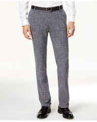 Vince Camuto | Men's Slim-fit Textured Cuffed Pants | Lyst