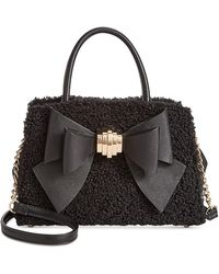 Betsey Johnson - Medium Satchel With Removable Bow - Lyst