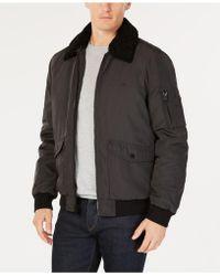 Calvin Klein - Bomber Jacket With Sherpa-fleece Collar - Lyst