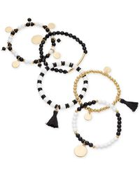 INC International Concepts - I.n.c. Gold-tone 5-pc. Set Bead, Tassel & Disc Stretch Bracelets, Created For Macy's - Lyst