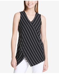 CALVIN KLEIN 205W39NYC - Asymmetrical Striped Top - Lyst