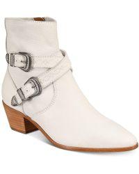 Frye   Women's Ellen Buckle Short Boots   Lyst