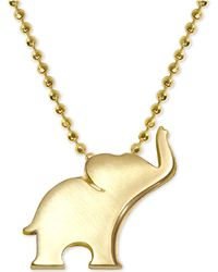 "Alex Woo - Elephant 16"" Pendant Necklace In 14k Gold - Lyst"