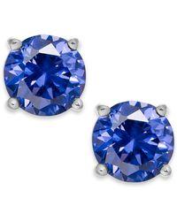 Giani Bernini | Periwinkle Cubic Zirconia Stud Earrings In Sterling Silver (2 Ct. T.w.) | Lyst