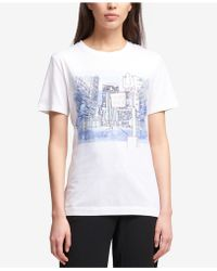 DKNY - Graphic-print T-shirt, Created For Macy's - Lyst