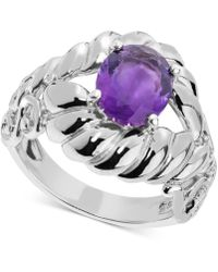 Carolyn Pollack - Amethyst Rope-style Ring (2 Ct. T.w.) In Sterling Silver - Lyst