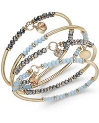 INC International Concepts - I.n.c. Gold-tone 4-pc. Set Beaded Bangle Bracelets, Created For Macy's - Lyst