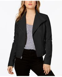 Marc New York - Felix Seamed Leather Moto Jacket - Lyst