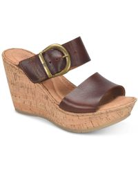 Born - Emmy Wedge Sandals - Lyst