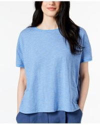 Eileen Fisher - Hemp Striped Top, Regular & Petite - Lyst