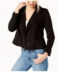 Vince Camuto - Faux-suede Moto Jacket - Lyst