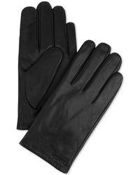 Calvin Klein - Fleece-lined Leather Gloves - Lyst