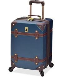"""London Fog - Retro 20"""" Carry On Expandable Spinner Suitcase - Lyst"""