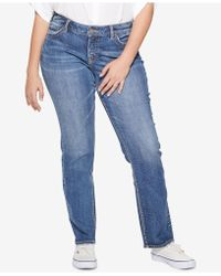 Silver Jeans Co. - Plus Size Suki Stretch Straight Jeans - Lyst