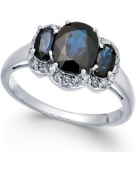 Macy's - Sapphire (2-5/8 Ct. T.w.) & Diamond Ring (1/4 Ct. T.w.) In 14k White Gold - Lyst