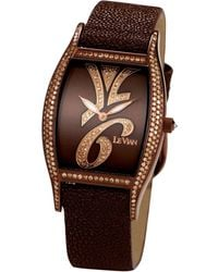 Le Vian - Time® Diamond Unisex Brown Leather Strap Watch (1-7/8 Ct. T.w.) 38mm Zag135a - Lyst
