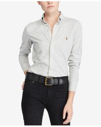 Polo Ralph Lauren - Knit Cotton Oxford Shirt - Lyst