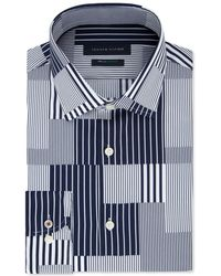 17b5a7616 Tommy Hilfiger - Slim-fit Th Flex Non-iron Supima Stretch Patchwork Dress  Shirt