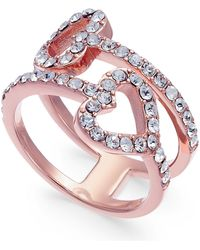 Joan Boyce - Pavé Double-heart Ring - Lyst