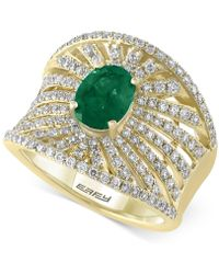 Effy Collection - Emerald (1-1/8 Ct. T.w.) And Diamond (1-1/10 Ct. T.w.) Ring In 14k Gold - Lyst