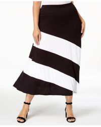 INC International Concepts - I.n.c. Plus Size Colorblocked Skirt, Created For Macy's - Lyst