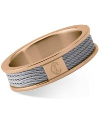Charriol | Women's Forever Two-tone Pvd Stainless Steel Cable Ring | Lyst