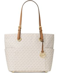 Michael Kors | Jet Set East West Signature Large Tote | Lyst