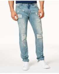 American Rag - Men's Vintage Wash Distressed Jeans - Lyst