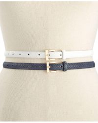 Style & Co. - Style&co. 2 For 1 Smooth Texture Belt - Lyst