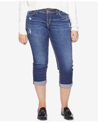 Silver Jeans Co. - Plus Size Curvy Capri Jeans - Lyst